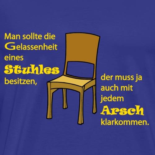 Stuhl Text gelb - Männer Premium T-Shirt