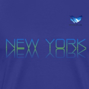 Space Atlas T-skjorte New York - Premium T-skjorte for menn