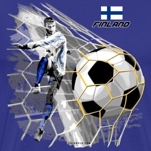 GP22F-05 FINLAND FOOTBALL PRODUCTS - Tuotteet - Miesten premium t-paita