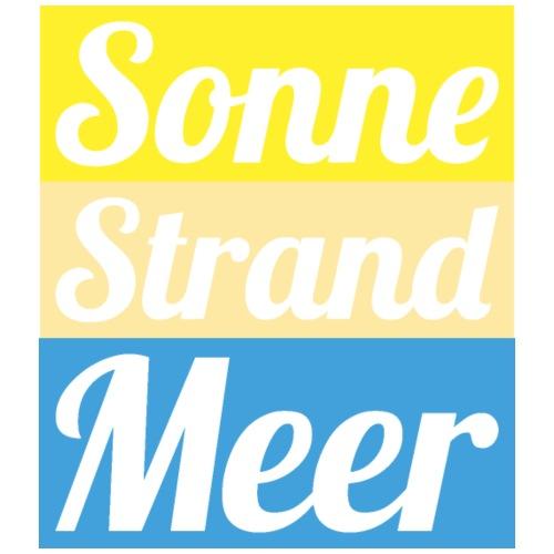 Sonne Strand Meer - Männer Premium T-Shirt