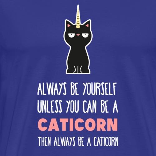 Katze Einhorn Tier Magisch Lustiges Geschenk - Männer Premium T-Shirt
