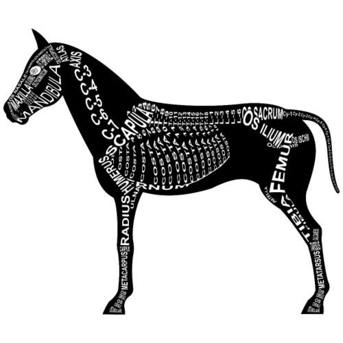 Pferd-Skelett - Männer Premium T-Shirt