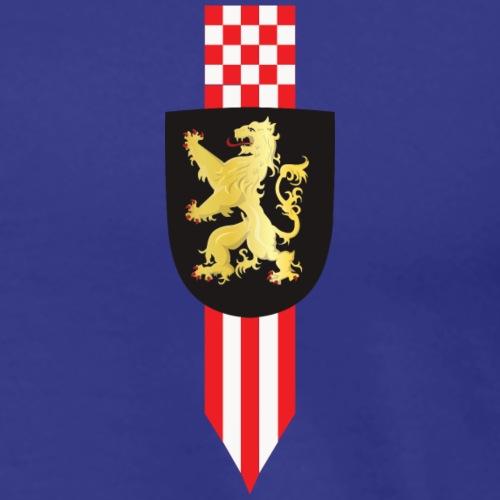 Logo Brabant Leeuw en korte wimpel def2 - Mannen Premium T-shirt