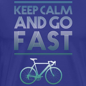 keepcalm bike bike go fast racing - Men's Premium T-Shirt