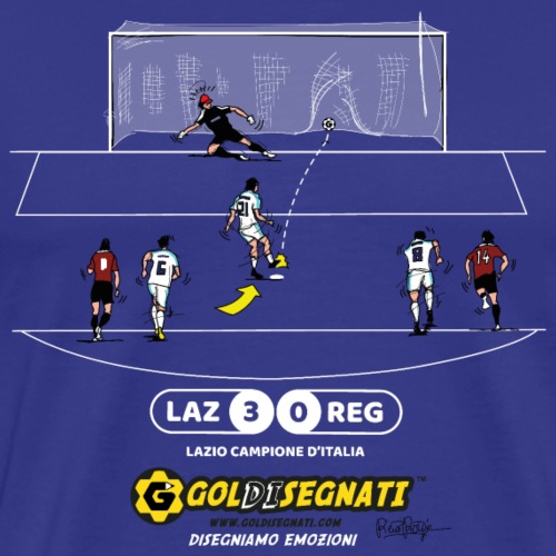 LAZ-REG 3-0 Campioni d'Italia - Maglietta Premium da uomo
