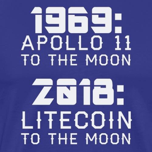 2018 Litecoin to the Moon - Männer Premium T-Shirt