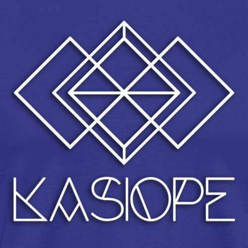 Logo Kasiope blanc - T-shirt Premium Homme