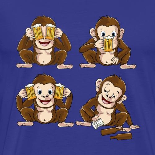 Lustig Affe Craft Bier Kritik Hobbybrauer Saufen - Männer Premium T-Shirt