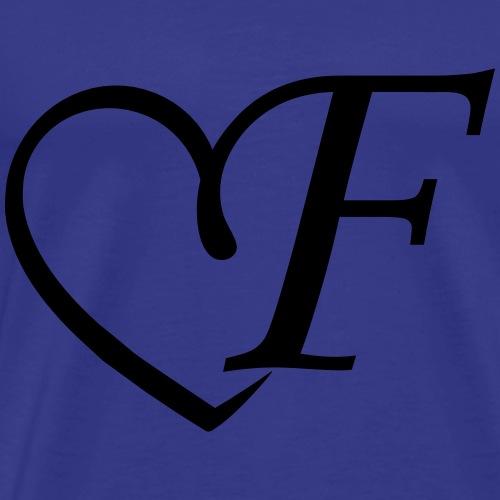 Herz Buchstabe f - Männer Premium T-Shirt