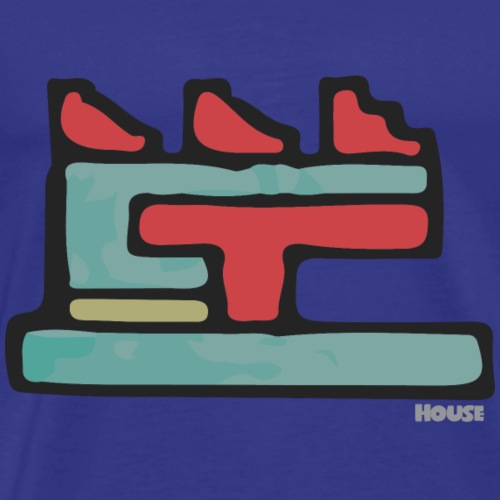 Aztec Icon House Night - Men's Premium T-Shirt