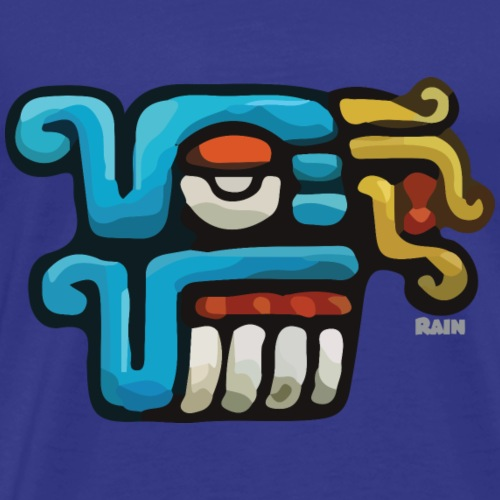 Aztec Icon Rain - Men's Premium T-Shirt