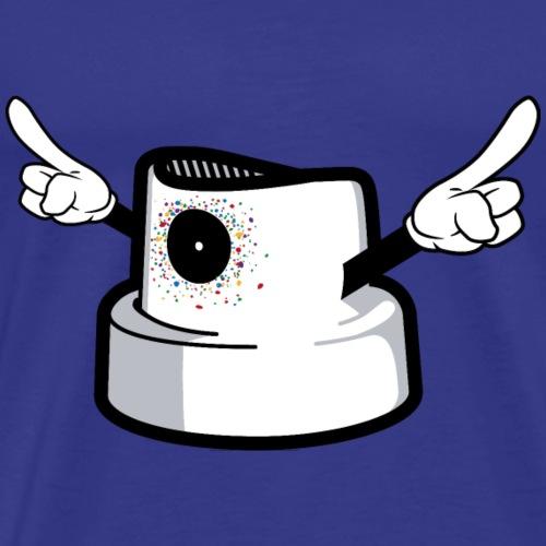 Caps d'une bonbonne de Graffiti crade - T-shirt Premium Homme
