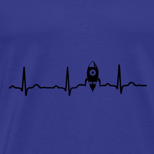 EKG HERZSCHLAG MOND MOON - Kryptowährung Black - Männer Premium T-Shirt
