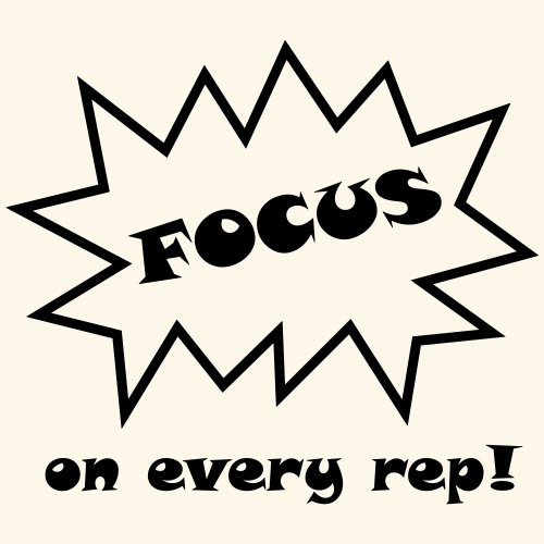 Focus on every rep! - Männer Premium T-Shirt