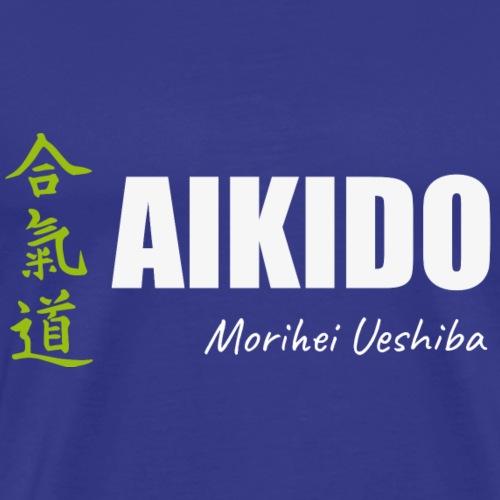 camisetas aikido diseño original mas kanji - Camiseta premium hombre
