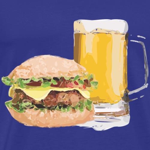 Burger und Bier - Männer Premium T-Shirt