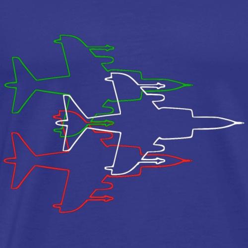 harrier profilo per tricolore - Maglietta Premium da uomo