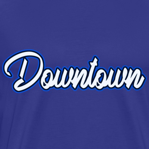 Downtown blau - Männer Premium T-Shirt