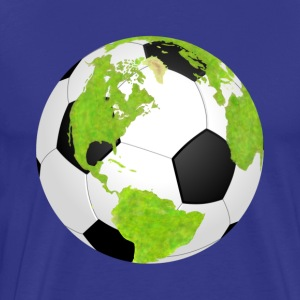 football soccer earth planet globe fu ball erde - Männer Premium T-Shirt