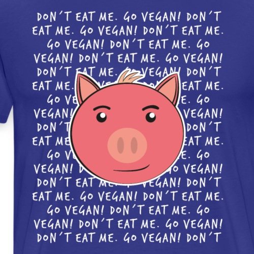 Süßes Schwein Go Vegan Lustiges Geschenk Shirt - Männer Premium T-Shirt