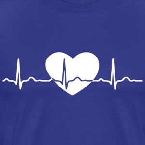 ECG HEART LINE white - Men's Premium T-Shirt
