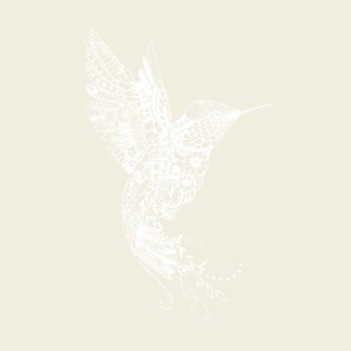 Großer Kolibri in weiß - Männer Premium T-Shirt