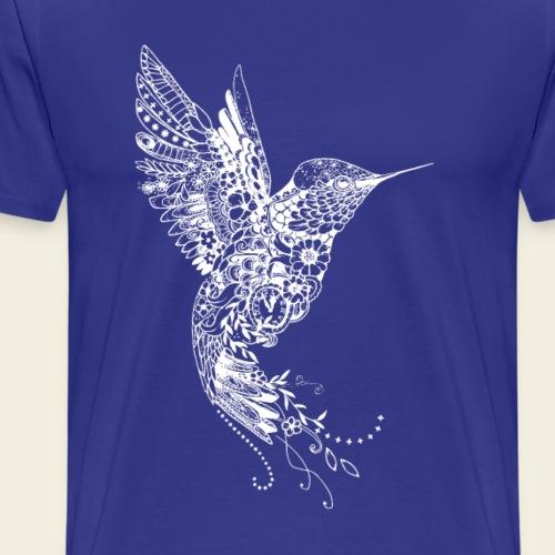 Großer Kolibri in weiß