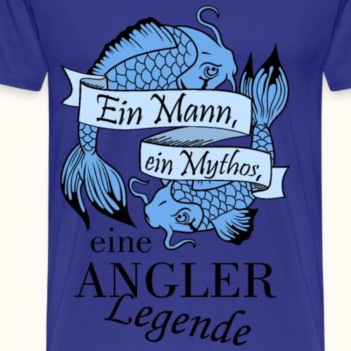 Der Angler - blau - Männer Premium T-Shirt