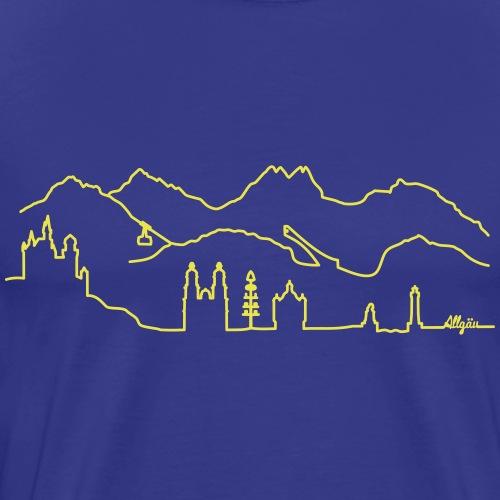 Skyline Allgäu - Männer Premium T-Shirt