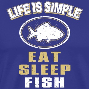 Eat Sleep Fish - Premium T-skjorte for menn