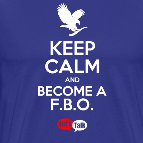 Keep Calm become a fbo bright letters - Männer Premium T-Shirt