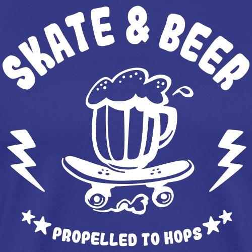 skateboard et bière - T-shirt Premium Homme