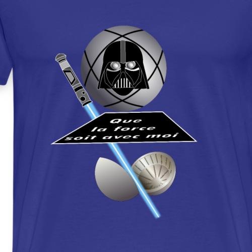 petanque poster force avec moi star war dark vador - T-shirt Premium Homme