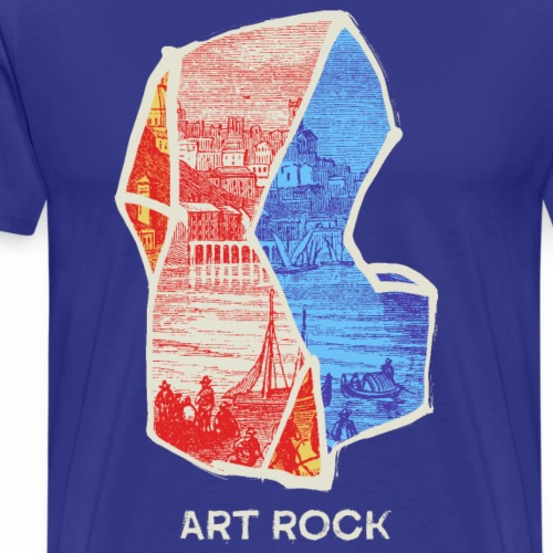ART ROCK No 3 colour - Mannen Premium T-shirt