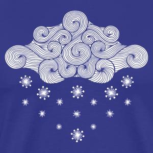 nuage blanc et flocons
