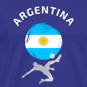 Argentina football Flag Cool Fun ball Goal Sport - Men's Premium T-Shirt