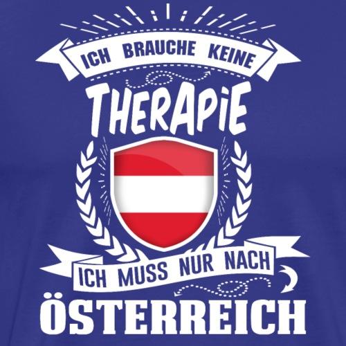Ich brauche keine Therapie Österreich (white) - Männer Premium T-Shirt