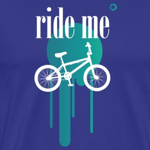 Bicycle bmx double irony allusion cool style - Men's Premium T-Shirt