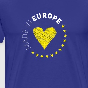 made in Europe love EU europe no Proposed referendum on United Kingdom membership of the European Union Euro star - Men's Premium T-Shirt