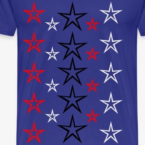 Sterne ohne Füllung - Männer Premium T-Shirt