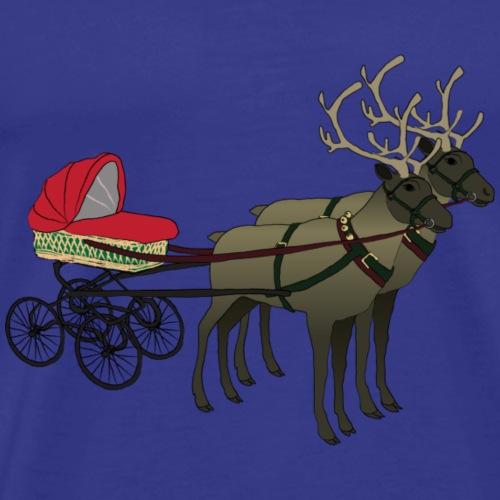 Reindeers with Pram - Männer Premium T-Shirt