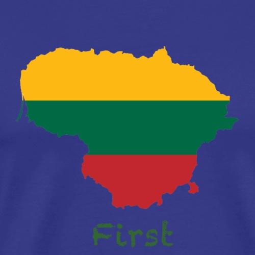 Lithuania, First - Männer Premium T-Shirt