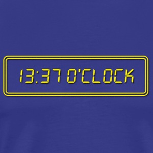1337 O Clock Yellow - Mannen Premium T-shirt