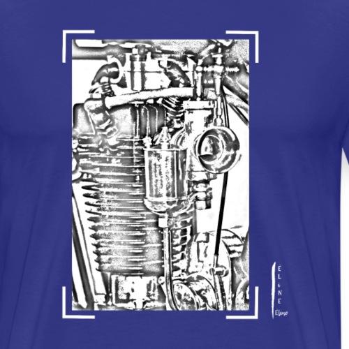 détail moteur moto ancienne - T-shirt Premium Homme