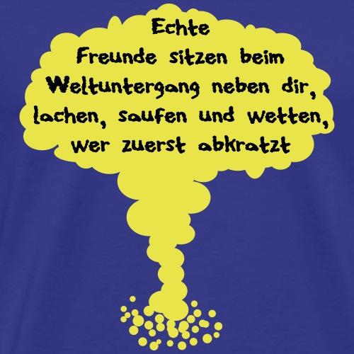 161029-1_Weltuntergang-_Freunde-_Atompilz - Männer Premium T-Shirt