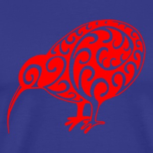 New Zealand: Kiwi in red - Men's Premium T-Shirt