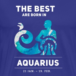 Aquarius aquarius watercolor constellation birthday - Men's Premium T-Shirt