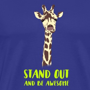 giraffe stand up tall prompt demanding hi - Men's Premium T-Shirt
