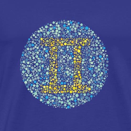 Gemini Eye Test Zodiac Symbol - Men's Premium T-Shirt