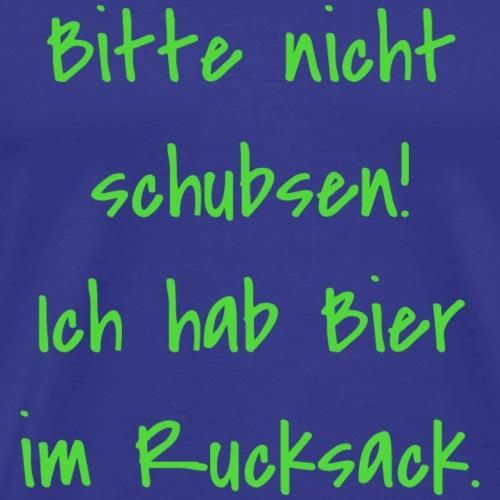 Bier im Rucksack - Männer Premium T-Shirt